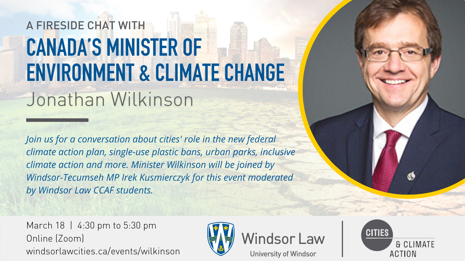 CCAF Presents: A Fireside Chat with Canada's Minister of Environment and Climate Change