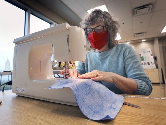 Volunteer mask makers seek public input