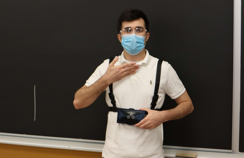 Capstone project helps visually impaired individuals see with sound